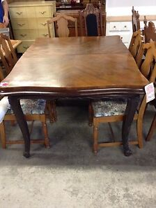 1850 French Victorian mahogany table Peterborough Peterborough Area image 1