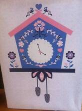 Pink and blue cuckoo clock canvas - super cute and girly Athelstone Campbelltown Area Preview