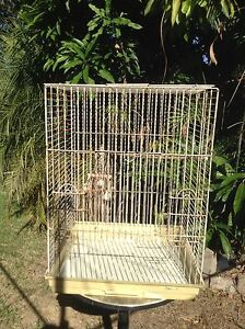 Large white square bird cage Tarragindi Brisbane South West Preview