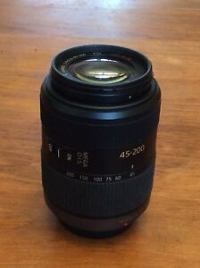 Panasonic 45-200mm OIS lens and Godox TT350 flash