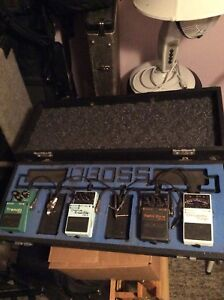 Boss Pedals and pedal board
