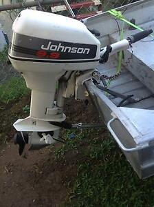 Johnson 9.9hp outboard motor with fuel tank Caboolture Caboolture Area Preview