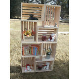 "18"" wooden crate, wood crate, wood storage crate,  display crate"