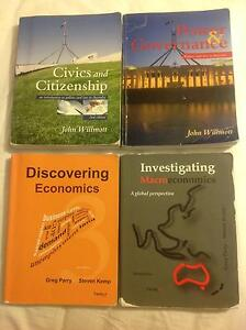 WACE English/Econ/French/Politics&Law YEAR 11 & 12 TEXTBOOKS Ocean Reef Joondalup Area Preview