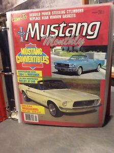 Mustang Monthly Magazines 1984-1991