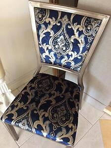 One blue velvet chair Belmore Canterbury Area Preview