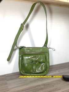 Green Danier vegan leather cross body bag/purse