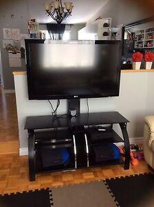 Meuble de télé ACL et LG marque cinéma maison 5.1 surround