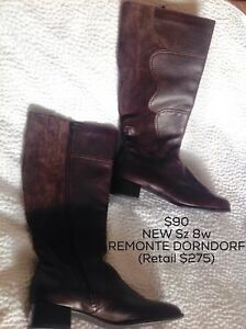 NEW-Remonte Dorndorf brown leather boots