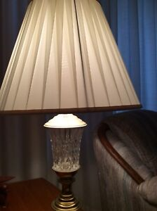 Crystal end table lights (two of them)