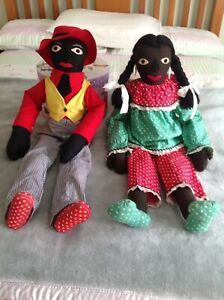 "OLD ""GOLLIWOGS"". (2). $15 the pair"