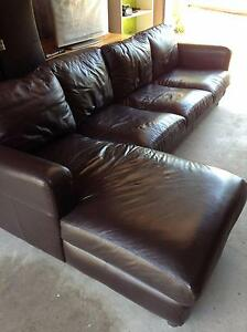 3-seater leather sofa with chaise lounge for sale - great price! Marrickville Marrickville Area Preview