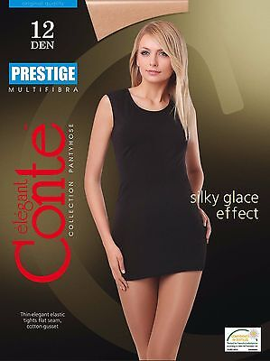 Conte TIGHTS Prestige 12 Den | Sheer to Waist Silky Thin Elastic Pantyhose - Sheer To Waist Pantyhose