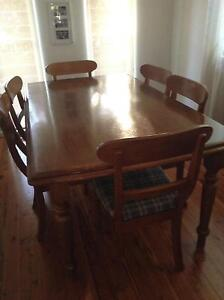 Dining room table and chairs Croydon Burwood Area Preview