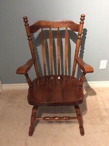 Solid Wood Captain's Chair