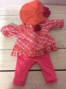 Authentic American Girl Doll Bitty Baby Plaid Play Outfit