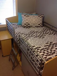 KIDS KING SINGLE BED WITH BUILT IN CUPBOARDS AND DESK Wagga Wagga 2650 Wagga Wagga City Preview