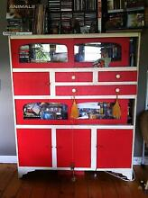 Wall Unit / kitchen dresser cabinet - retro vintage, hot red! Altona Hobsons Bay Area Preview