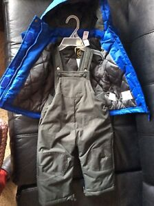 Winter jacket and pants, boys 6-12 months