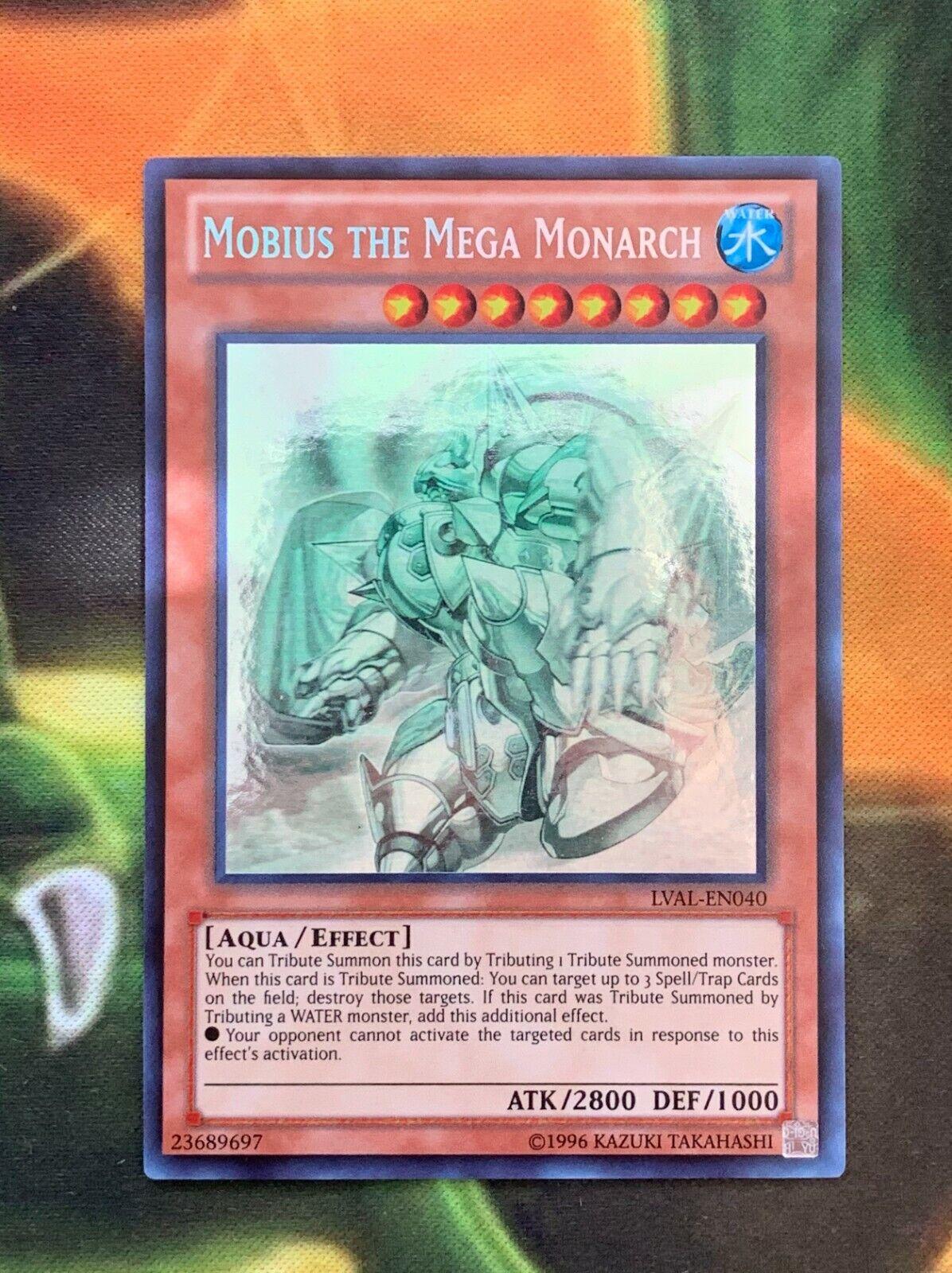 Yugioh Mobius The Mega Monarch LVAL-EN040 Ghost Rare Mint  - $42.95