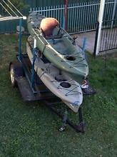 Hobbies kayaks x2 on custom trailer Penrith Penrith Area Preview
