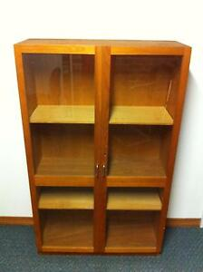 Bookcase Wooden with Glass doors South Penrith Penrith Area Preview