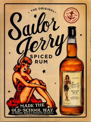 2013 Print Ad Sailor Jerry Spiced Rum Bold Smooth As Hell