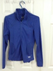 LADIES ATHLETIC JACKET SIZE SMALL (BLUE).