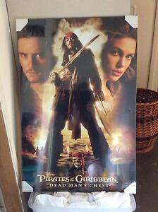 Pirates of the Caribbean poster/frame Bundall Gold Coast City Preview