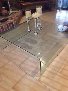 2 piece matching glass coffee tables Edensor Park Fairfield Area Preview