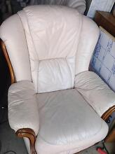 Leather sofa set 3+1+1 $200 Negotiable Minto Campbelltown Area Preview