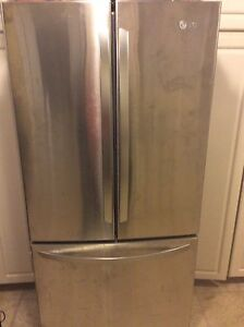 LG stainless french door refrigerator