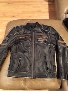 Harley Davidson leather jacket and gear