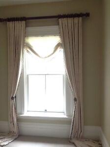 Custom made, long curtains