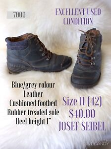 Size 11 Joseph Siebel leather bootees