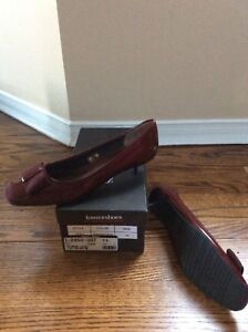 Women's Red Small heel shoes, size 9 originally $110, brand new.