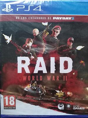 RAID WORLD WAR II (2). JUEGO PARA PS4 / PLAYSTATION 4. PAL....