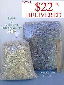 Rabbit and Guinea pig Mix and hay bag Lucerne, oaten hay, meadow Brookvale Manly Area Preview