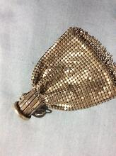 Vintage coin purse, white metal mesh Lynwood Canning Area Preview