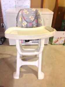 Cosco high chair see comments for pricing.