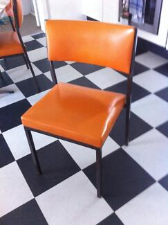 Retro orange chairs set of 2 Newcastle Region Preview