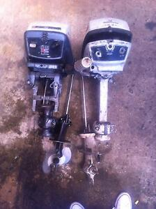 evinrude⁄johnson 2 x 6 hp outboard motor selling parts only from Mount Druitt Blacktown Area Preview