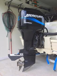 90 hp Mercury  Salt Water 2 stroke Boat Motor