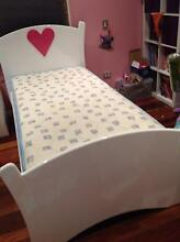 Girls princess heart bed with mattress Greenslopes Brisbane South West Preview