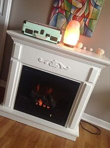 electric fireplace with new heater
