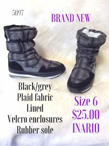 Size 6 flannel lined flat  boots