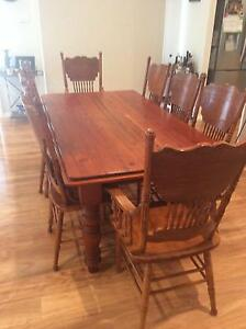 Recycled Baltic Pine Dining Table with 8 Chairs Bolwarra Maitland Area Preview