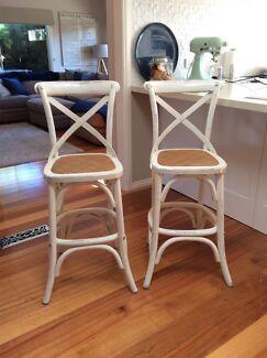 Hampton style cross back stools