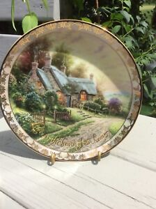 "Plate porcelain     $30.    ""Love is the heart of our home"""
