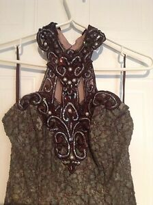 Brown Lace Gown